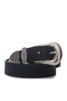 Belt silver buckle Guess | 20000041 | BW7014-VIN30BLA