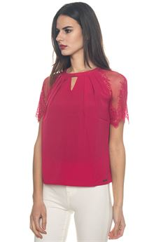 Blouse with short sleeves Guess | 6 | W81H13-W91Q0A469