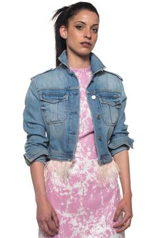 Denim harrington jacket Guess | -276790253 | W82N55-D2NG1CDLV