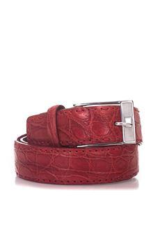 Cintura in coccodrillo Kiton | 20000041 | USCLO N92217ROSSO