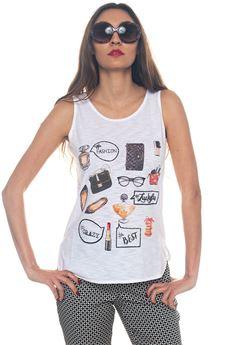 Sleeveless blouse Luckylu | 46 | 25LL-TS27JF0006