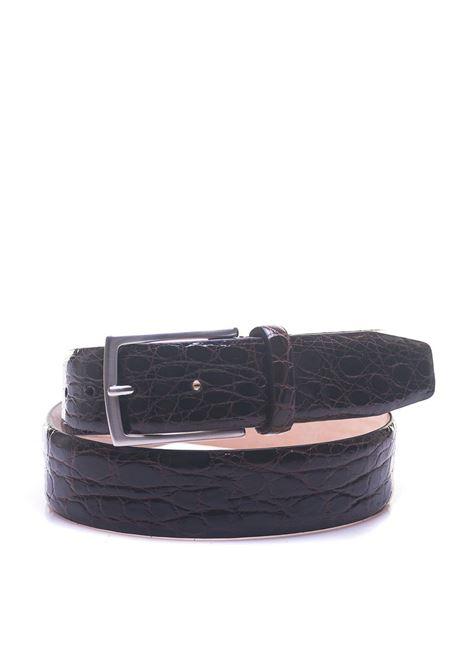 Cintura in coccodrillo MINORONZONI 1953 | 20000041 | MRS1811C49C60