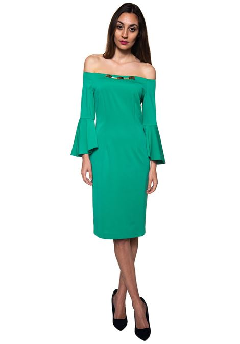 Sheath dress in cady stretch Miss Max | 130000002 | 6054VERDE
