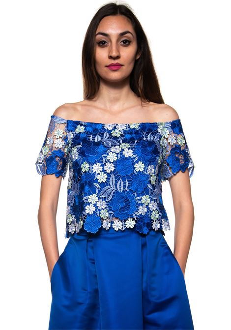 Top di pizzo Miss Max | 40 | 6100BLU