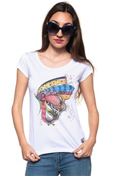Butterfly T-shirt Oji | 8 | BUTTERFLYBIANCO