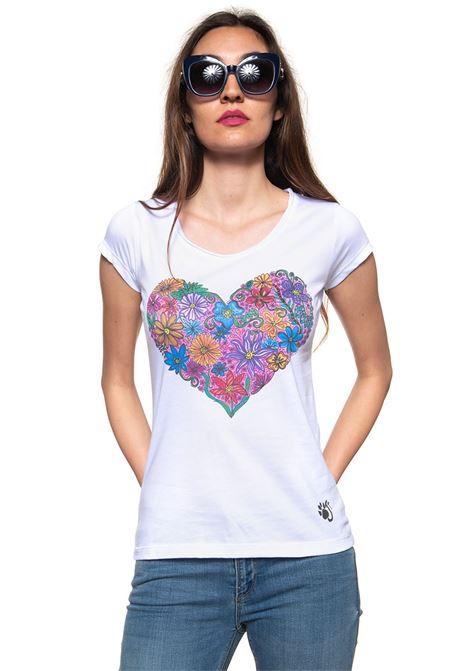Cuore T-shirt Oji | 8 | CUOREFIORITOBIANCO