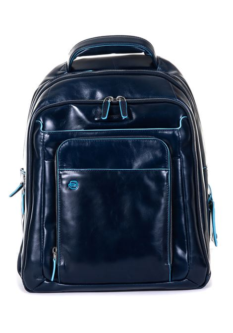 Leather rucksack Piquadro | 5032307 | CA1813B2BLU2