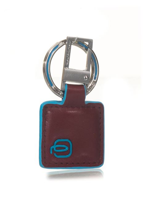 Keychain with leather insert Blue Square Piquadro | 65 | PC3757B2R
