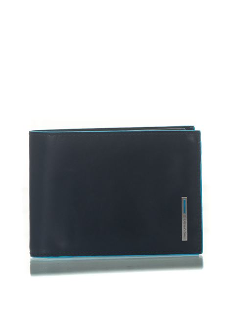 Men's wallet with coin case Blue Square Piquadro | 63 | PU1392B2RBLU2