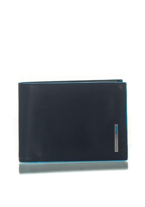 Portafoglio uomo con portamonete Blue Square Piquadro | 63 | PU1392B2RBLU2
