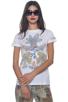 Flower print T-shirt Red Valentino | 8 | PR0MG08S-3PB0BO