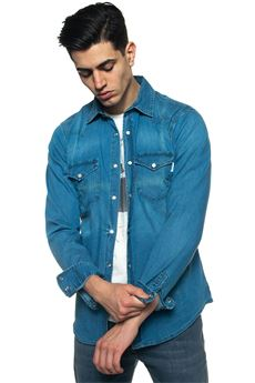Dudley denim shirt Roy Rogers | 6 | DUDLEY-DENIM ELASTMEDIUM