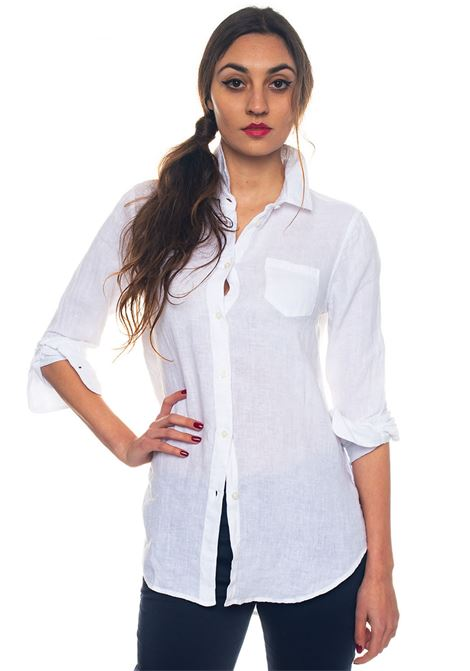 Suzanne Shirt Ls Long-sleeved linen shirt US Polo Assn | 6 | 44047-49490400