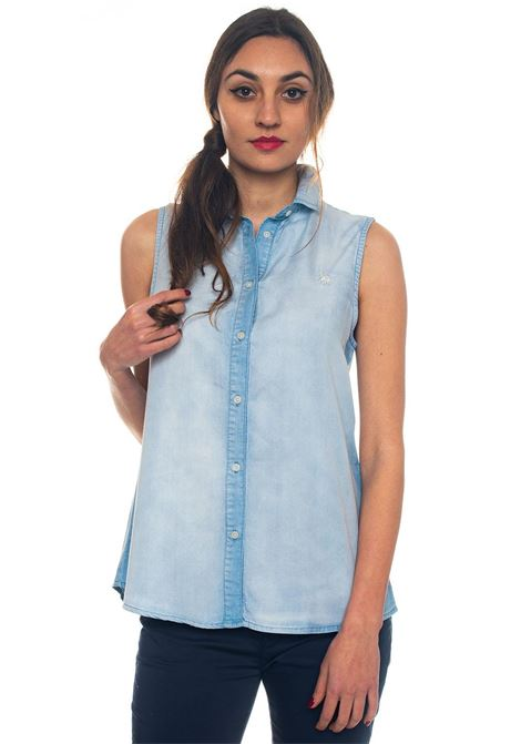 Camicia da donna in jeans Pauline Shirt Ss US Polo Assn | 6 | 44049-52123170