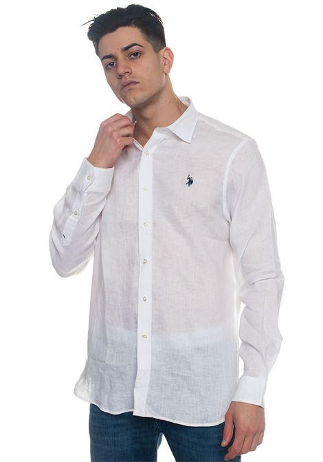 Adam Long-sleeved linen shirt US Polo Assn | 6 | 44207-50816100
