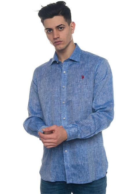 Adam Long-sleeved linen shirt US Polo Assn | 6 | 44207-50816137