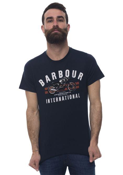 BATEE0357 Round-necked T-shirt Barbour | 8 | BATEE0357-MTSNY91