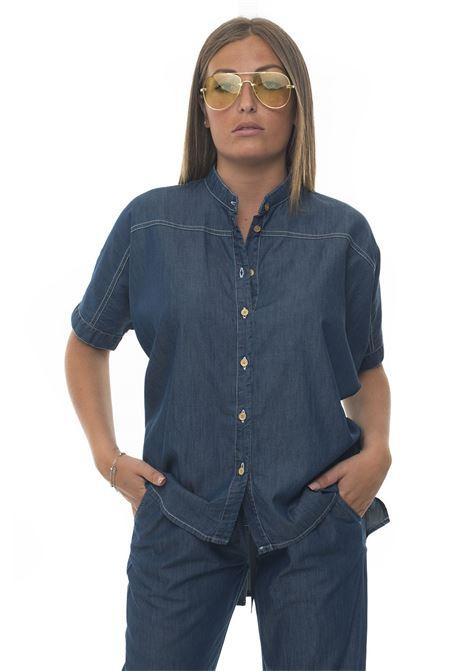 Camicia da donna oversize Blue Les Copains | 6 | 0J20500148