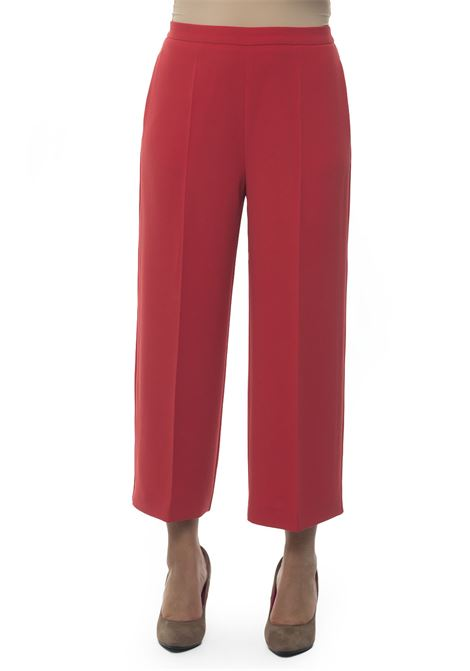 Soft trousers in cady Blue Les Copains | 9 | 0J30110440