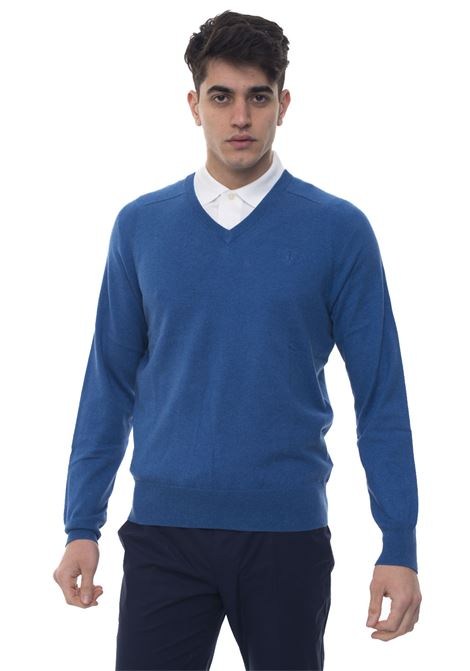 Pullover collo a V Brooks Brothers | 7 | 100049790AZZURRO