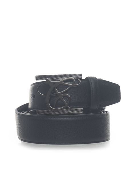 Leather belt Canali | 20000041 | 50-KA00191110
