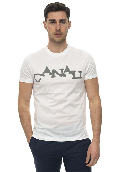 Short-sleeved round-necked T-shirt Canali | 8 | T0003-MJ00684001