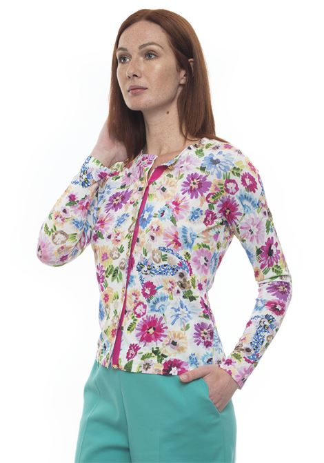 Round-necked cardigan with long sleeves Escada | 39 | 50290891615