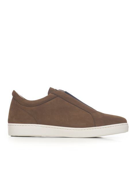 Suede and rubber sneaker Kiton | 5032317 | USSCODEN0003405001MARRONE