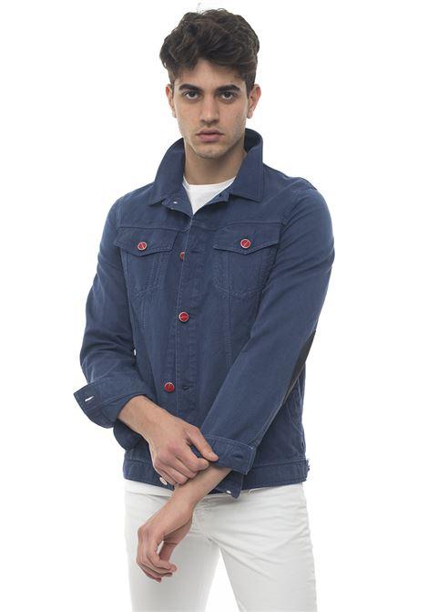 Denim harrington jacket Kiton | -276790253 | UW0213K07N8107001BLU