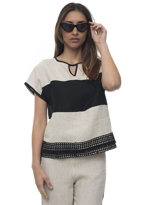 Vista Lined tunic Mariella Rosati | 2035781291 | VISTAY001