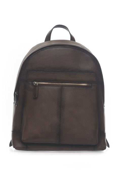 Leather rucksack MINORONZONI 1953 | 5032307 | MRS194B113C60