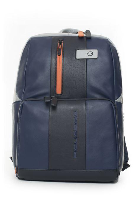Leather rucksack Piquadro | 5032307 | CA3214UB00BLGR