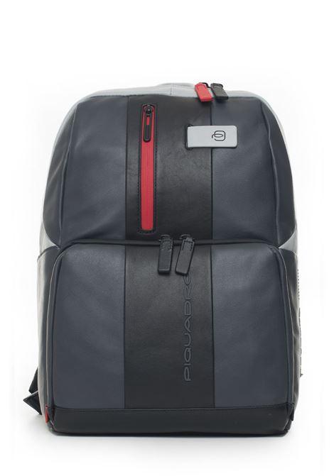 Leather rucksack Piquadro | 5032307 | CA3214UB00GRN