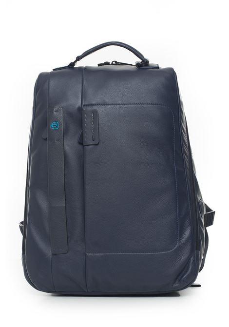 Leather rucksack Piquadro | 5032307 | CA3349P15BLU3