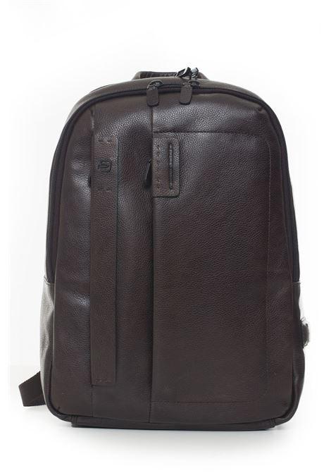 Leather rucksack Piquadro | 5032307 | CA3869P15STM