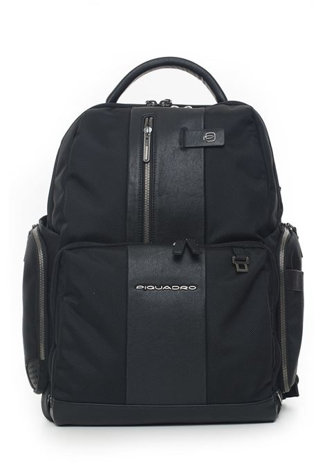Leather and cordura rucksack Piquadro | 5032307 | CA4439BRBMTN