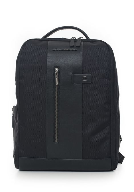 Leather and cordura rucksack Piquadro | 5032307 | CA4818BRN