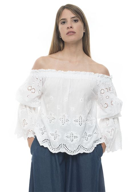 BLUSA-SANGALLO Blouse with long sleeves Roy Rogers | 2035781291 | BLUSA-SAN GALLO149