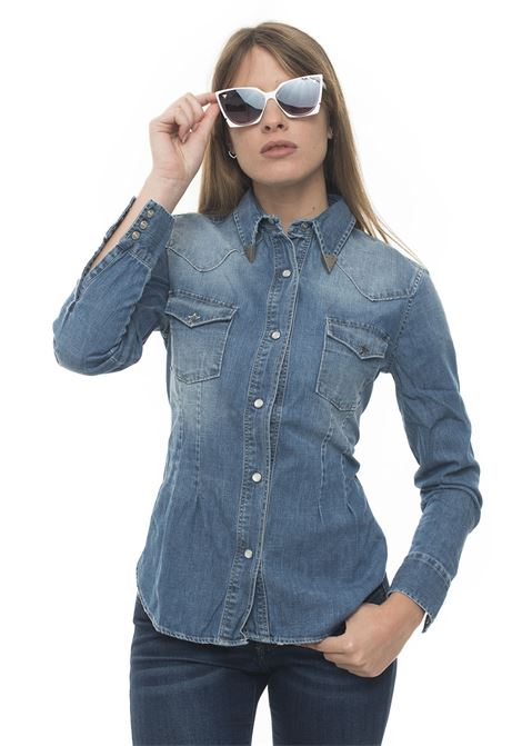 Camicia da donna in jeans SHIRT PLAY WOMAN DENIM SALT Roy Rogers | 6 | SHIRT PLAY WOMAN DENIM SALTSALT