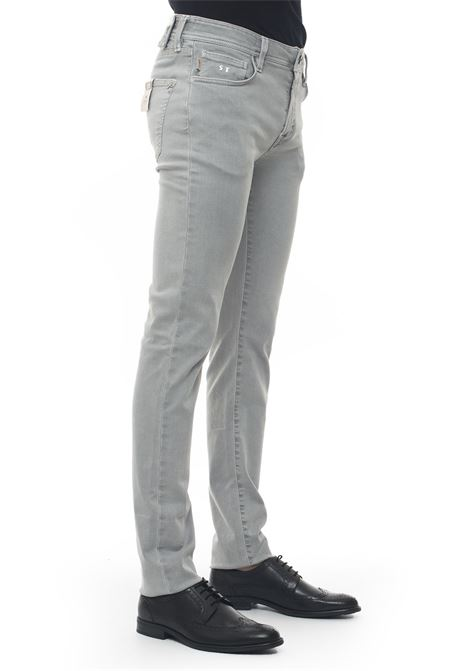 Leonardo_Slim 5 pocket denim Jeans Tramarossa | 24 | LEONARDO_SLIM-G125SEA FOAM