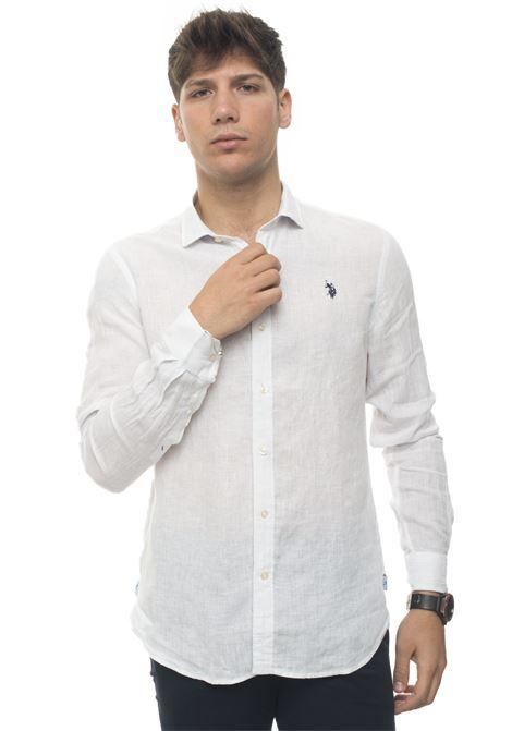 Long-sleeved linen shirt US Polo Assn   6   51477-50816100