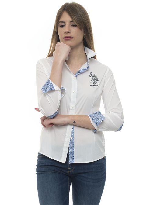 Camicia da donna in cotone US Polo Assn | 6 | 51517-51702100