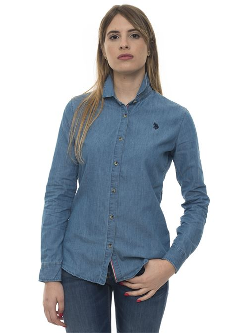 Camicia da donna in jeans US Polo Assn | 6 | 51653-51633177