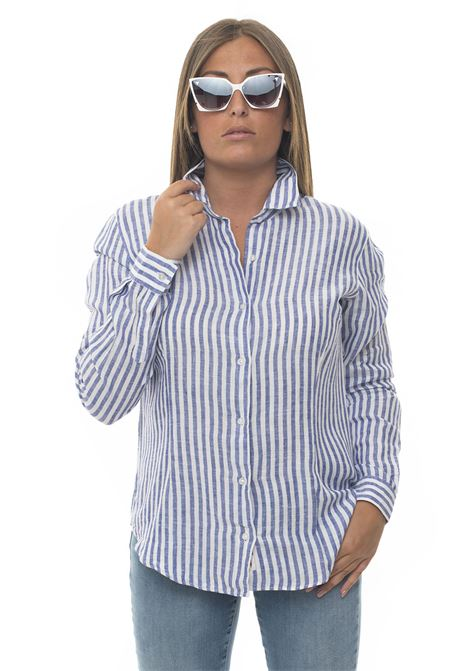 Long-sleeved linen shirt Vincenzo De Lauziers | 6 | AMALFI-VI08793