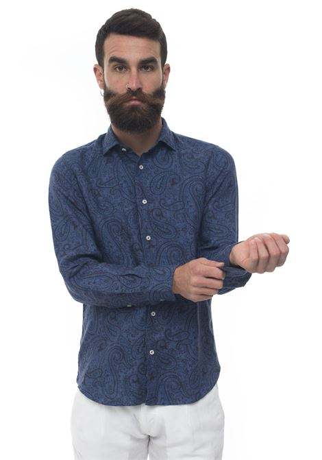 Long-sleeved linen shirt Vincenzo De Lauziers | 6 | FR47-TC105204