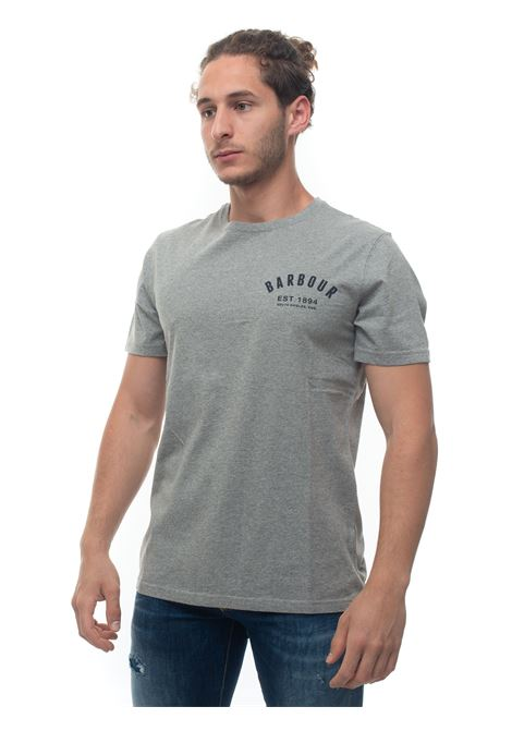 BATEE0374 Short-sleeved round-necked T-shirt Barbour | 8 | BATEE0374-MTSGY52
