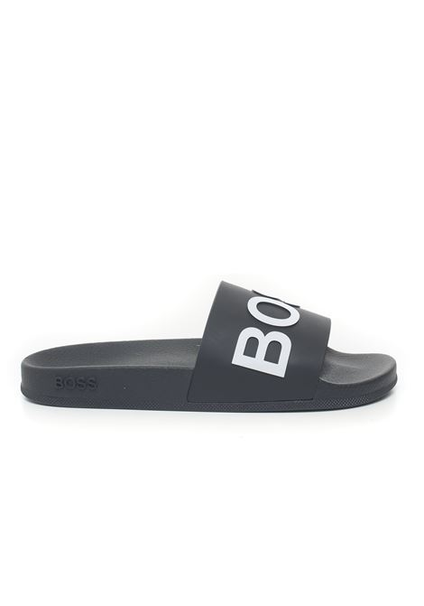 Sandals with logo BOSS | 5032246 | BAY_SLID_RBLG-50425152001