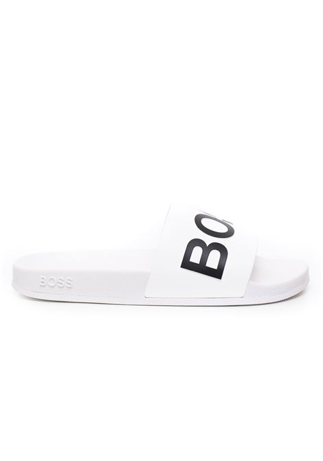 Sandals with logo BOSS | 5032246 | BAY_SLID_RBLG-50425152100