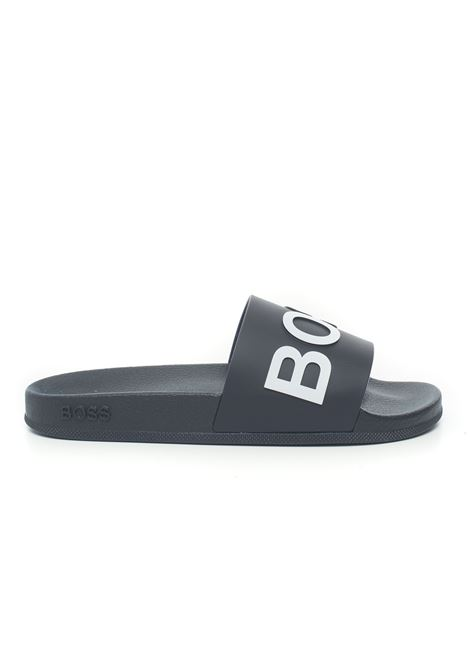 Sandals with logo BOSS | 5032246 | BAY_SLID_RBLG-50425152401