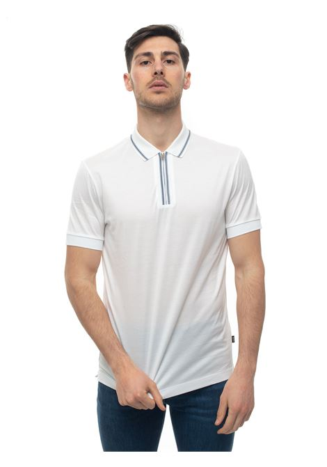 Short sleeve polo shirt with half zip BOSS | 2 | PARAS04-50423869100